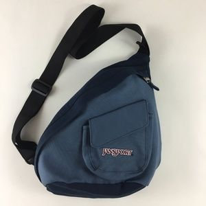 Jansport Backpack Sling Crossbody Bag Blue Small